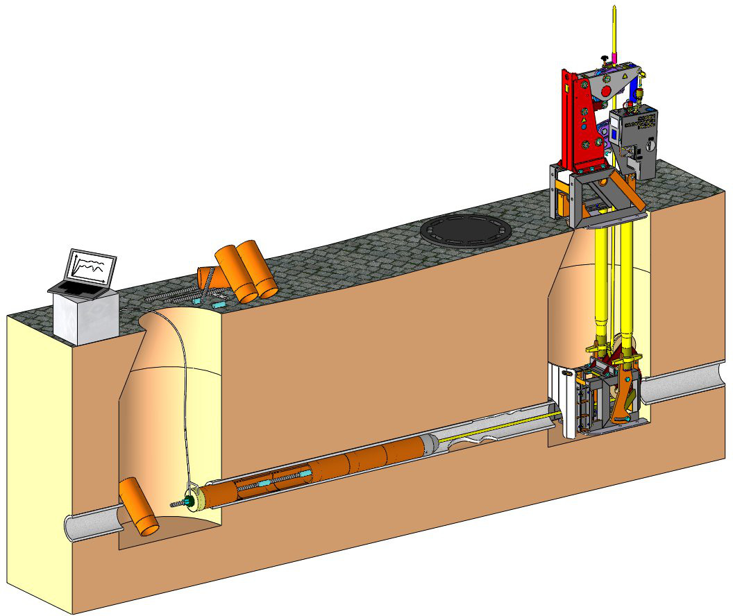 PIPe bursting - Calibre pipe cracking, up to 40 tons with cable bursters